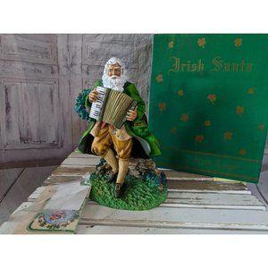 Pipka Irish Santa St Patrick's figurine 5th yr 10.